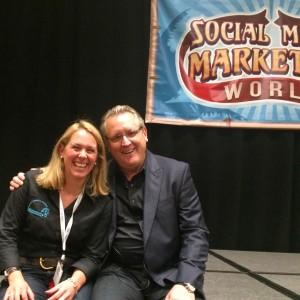Elaine with Mark Schaefer