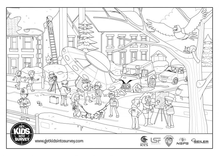 Crime Scene Colouring Sheets – The Crash