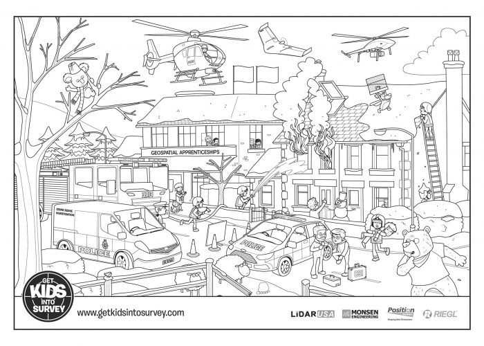 Crime Scene Colouring Sheets – The Fire