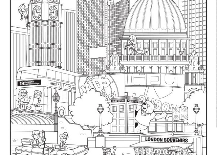 London (1) Colouring Sheet
