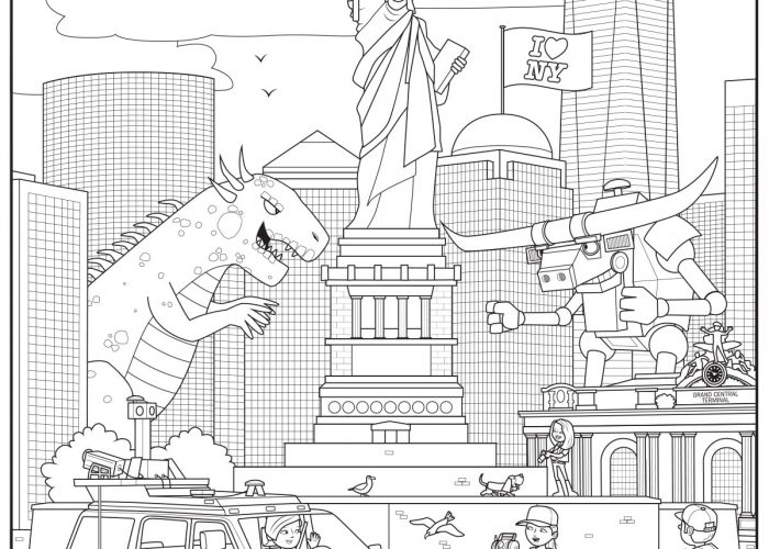 New York (1) Colouring Sheet