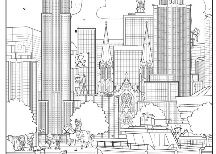New York (2) Colouring Sheet