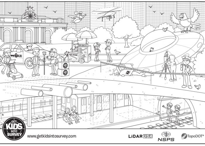 New York (3) Colouring Sheet